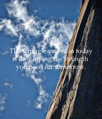 Yosemite El Capitan and quote — Stock Photo