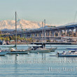 San Diego's Coronado Bay Bridge and some boats — Stock Photo #19057379