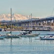 San Diego's Coronado Bay Bridge and some boats — Stock Photo