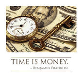 Time and Money Concept Image — Stock Photo