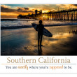 Silhouetted surfer at Oceanside Pier, Oceanside, California. - Stock Photo