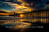 Oceanside Pier at Sunset — Stock Photo