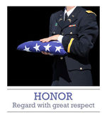 Honoring the fallen hero — Stock Photo