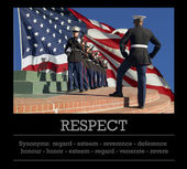 USMC honor guards. Respect and synonyms. — Stock Photo