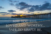Sunset at the Oceanside Pier, California — Stock Photo