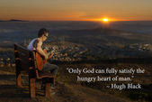 Only God Can Satifsy The Hunger Of Man — Stock Photo