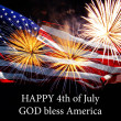 Happy 4th of July Ameican flag — Stockfoto #28790775