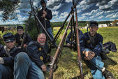 Participants at the 150th anniversary of the American Civil War — Stock Photo