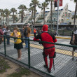 Participants attend the yearly Comic-Con convention — Stock Photo