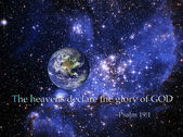 The Heavens declare the glory of God — Stock Photo