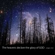 Постер, плакат: The heavens display the glory of God