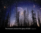 The heavens display the glory of God. — Stock Photo
