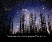 The heavens display the glory of God. — Stock Photo
