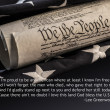US Constitution with American flag — Stock Photo #31159905