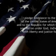 Pledge Of Allegiance over American flag — Stock Photo #31160013