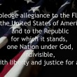 Pledge Of Allegiance over American flag. — Stock Photo #31160049