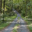 Stock Photo: Path through forest with quote