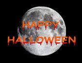 Happy Halloween over moon — Stock Photo