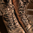 Pair of old worn boots — Stock Photo