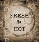 Fresh & Hot coffee — Stok fotoğraf