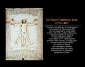 Da Vinci's Vitruvian Man — Stock Photo