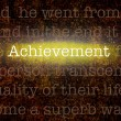 Word ACHIEVEMENT over grungy background — Stock fotografie