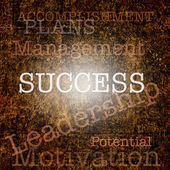 Word SUCCESS over grungy background — Stock Photo