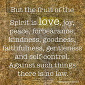 For the Fruit of spirit is LOVE — Stock Photo