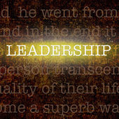 Word LEADERSHIP over grungy background — Stock Photo