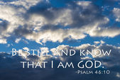 Be still and know that I am GOD — Stock Photo
