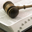 Stockfoto: Gavel and book