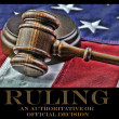 Judges gavel and AmericFlag — Stock fotografie #38780859