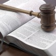 Gavel and book — Stock Photo #38781051