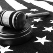 Foto Stock: Gavel and flag