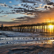 Sunset at Oceanside Pier — Stock Photo #38781465