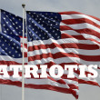 Patriotism and American flags — Stock Photo