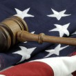 Judges gavel and AmericFlag — Stok Fotoğraf #38781933