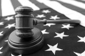 Gavel and flag — Foto de Stock