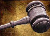 Wooden Judge's Gavel — Stock Photo