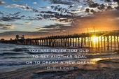 Sunset at the Oceanside Pier — Stock Photo