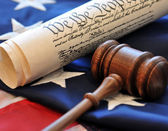 US Constitution and gavel — Stock Photo