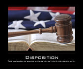 Judge's wooden gavel — Stock Photo