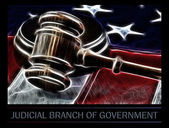 Judges wooden gavel and flag — Stock Photo