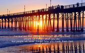 Oceanside Pier California with quote — Stock Photo