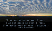 Clouds with sky and quote — Stock Photo