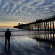 Oceanside Pier with photographer — Stock Photo #41912317