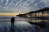 Oceanside Pier with photographer — Stock Photo