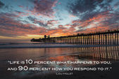 Oceanside Pier California at sunset — Stock Photo