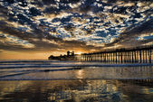 Sunset at the Oceanside Pier. — Stock Photo
