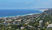 La Jolla Shores and Scripps Pier — Stock Photo